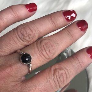hellmut cordes Jewelry - Black onyx ring simple design sterling silver sz 8